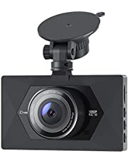 【Upgraded】 Crosstour Dash Camera for Cars 1080P Full HD Mini Dash Cam Recorder Parking Monitor, Motion Detection, Loop Recording, Super Night Vision, WDR, F1.8 Aperture,170° Wide Angle