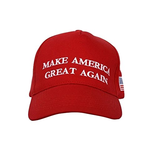 TrendyLuz Make America Great Again Donald Trump MAGA Baseball Cap Hat (Red Flag Classic)]()