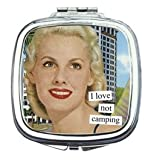 I Love Not Camping Compact Mirror
