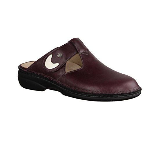 Finn Comfort Belem - Zapatos mujer Zapato abierto / Chanclas de dedo, Rojo, cuero (venezia)