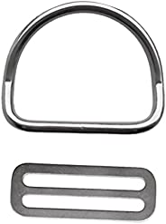 Universal 2 inch Weight Belt Keeper Retainer & Bent D Ring for Scuba Diving Dive Snorke