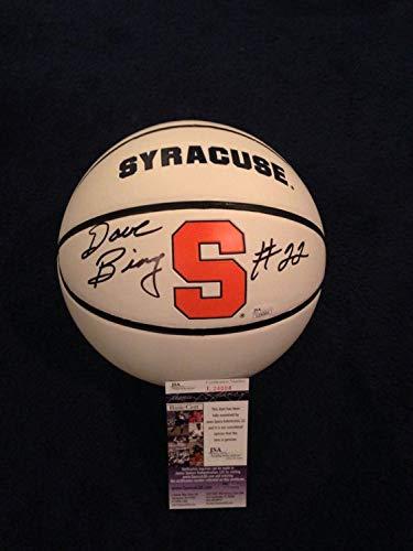 - Dave Bing Autographed Signed Memorabilia Syracuse University Logo Basketball Su Pistons - JSA Authentic