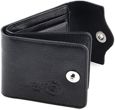 Bifold Black Wallet Men/'s Genuine Leather Credit//ID Card Holder Slim Purse Gift