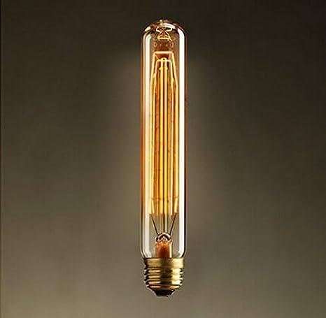 2 x Bombillas edison vintage retro industrial bombilla LED E27 Tornillo pirotecnia creativa decorado luz bombillas incandescentes,40,T-30-225 sin lámpara de ...
