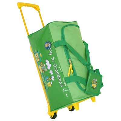 Going to Grandma's Children's Duffel Bag Color Lime Green
