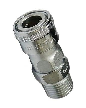 NPT Thread 1//4 Size 218 PSI Female Steel Nitto Kohki Hi Cupla 20SF-NPT Quick Connect Pneumatic Coupler Socket