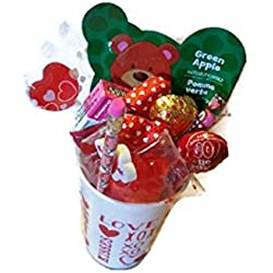 Valentine Day Gift for Kids - Girls Candy Cup 16 Piece Gift Bundle