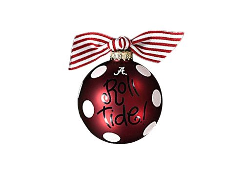 Coton Colors Alabama Dot Glass Ornament -