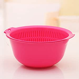 Wash rice and drain basket vegetables basket,Rose