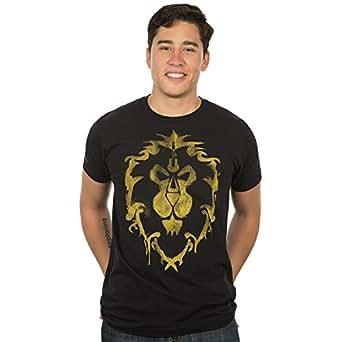 World of Warcraft Men's Alliance Spray Paint Premium T-Shirt (Black, Small)
