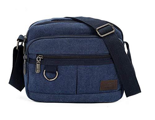 color Size Messenger Cross Bag Multi Men's Classic Black Body Pockets Blue Shoulder Crossbody Canvas 4aqw6Wxvg1