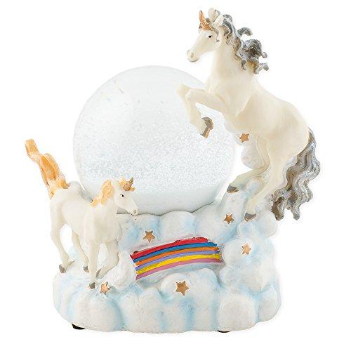 Mystical Unicorns 100mm Resin Water Globe Plays Tune You Are My (Unicorn Snowglobe)