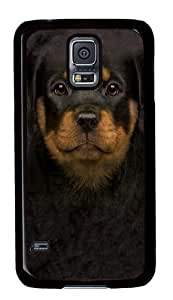 Kids Rottweiler Puppy PC Case Cover for Samsung S5 and Samsung Galaxy S5 Black