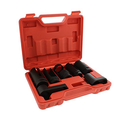 """(ABN Oxygen 02 Sensor Socket 7-Piece Tool Kit – 22mm (7/8"""" Inches), 27mm, 29mm – All Vehicle O2 Removal and)"""