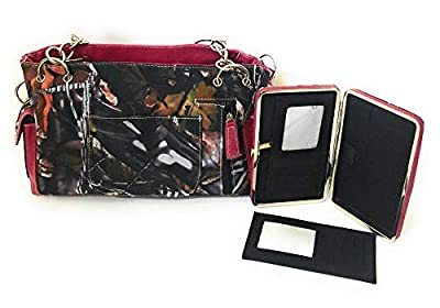 BNB Jp Camo Western Concealed Carry CCW Shoulder Bag Purse Flat Wallet Set Pink