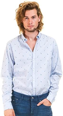 CASUAL FRIDAY Camisa Azul Hombre (XXL - Azul): Amazon.es ...