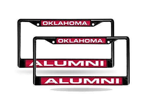 Oklahoma Sooners Alumni NCAA Black Metal (2) Laser Cut License Plate Frame Set