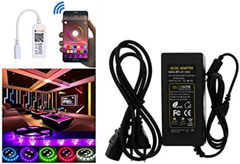 Sjp Light Waterproof 5050 Rgb 5M/300geführt Flexible App Control Strip Light mit Mini Bluetooth Controller 12V 3ein Power Adapter für Zuhause Kitchen Bedroom Garden