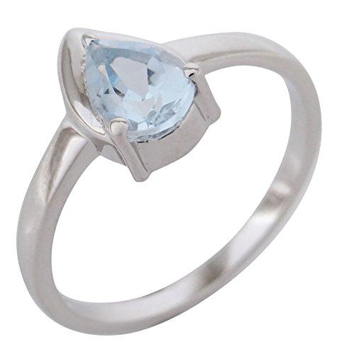 Banithani 925 en argent massif anneau bleu topaze pierre les femmes de bijoux casual