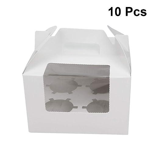 Diez cajas de cartón,cuatro cajas de pasteles,pastelería ...