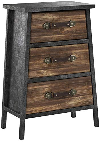 4D Concepts Urban DRAWER, Black/Grey/Natural distressed wood by 4D Concepts