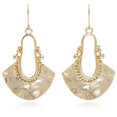 eld Shape with Hammered Drop Earrings ()