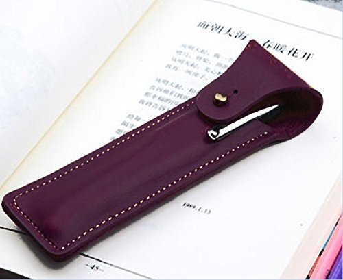 fountain pen pencil case Organizers storage bag holder Genuine cow Leather Customize handmade purple z179