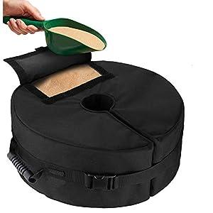 Beenle-Icey – Bolsa de arena para sombrilla extraíble redonda de playa, patio – Bolsa de peso de base Oxford resistente 600D para tienda de campaña para soporte de arena