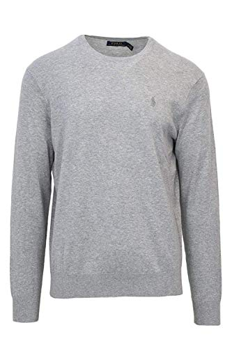 Polo Ralph Lauren Men's Big & Tall Crew Neck Cashmere Blend Pullover Sweater (2XLT, Grey)