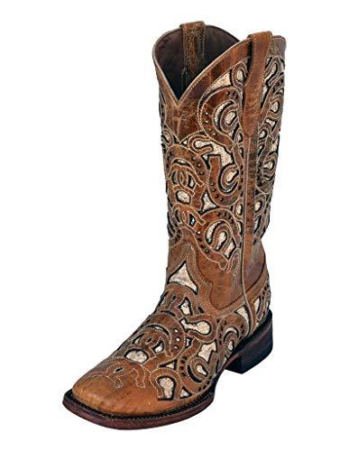 Ferrini Women's Horseshoe Boot, Antique Saddle, 8.5 B US