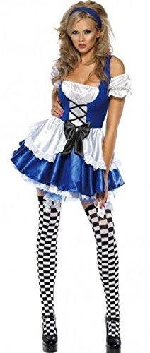 Ladies Sexy Alice in Wonderland Dorothy Book Day Week Cartoon Film Halloween Fancy Dress Costume Outfit UK 4-18 (UK 8-10)