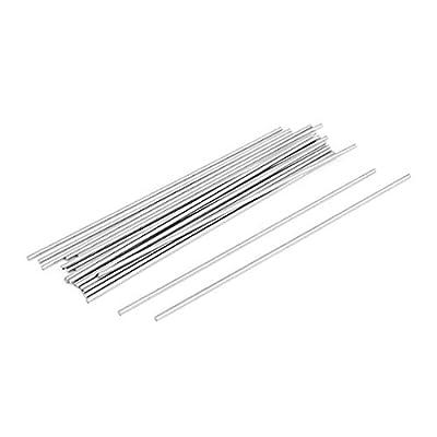 20 Pcs Steel Rod Round Bar Stock Lathe Tools 1.5mm Dia 100mm Longueur
