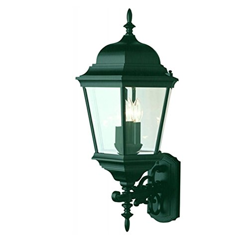 Transglobe Lighting 51000 VG Outdoor Wall Light with Beveled Glass Shades, Verde Green Finished Review
