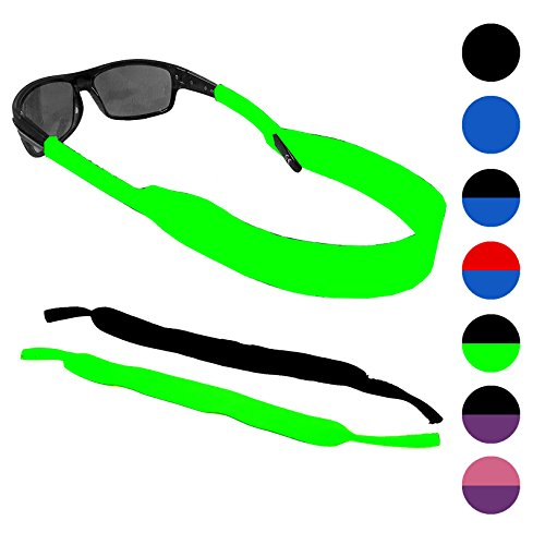 Glasses and Sunglasses Active Strap - 2 Pack | Anti-Slip and Fast Drying Sport Glasses Strap (Green + - Strap Sports Glasses