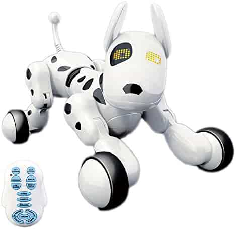 Hi-Tech Wireless Remote Control Robot Interactive Puppy Dog For Kids, Children,Girls, Boys (White)