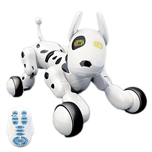 Hi-Tech Wireless Interactive Robot Puppy, Robot Dog, Remote Control Dogs for Boys/Girls Children Birthday Gift, White