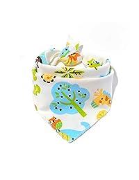 Children's Double-Sided Dark Buckle Triangle Baby Saliva Towel Bib