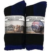 3 PAIRS 6-11 HEAVY DUTY AUSTRALIAN MERINO EXTRA THICK WOOL WORK SOCKS NEW