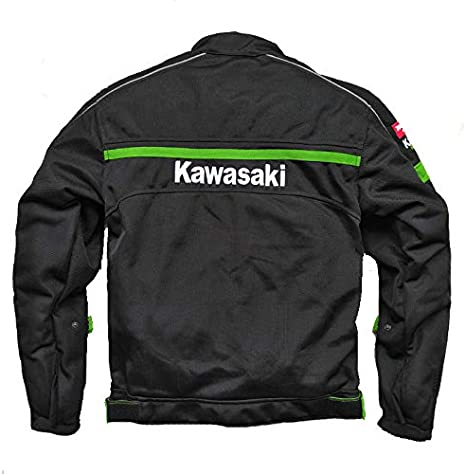 XXL LIULL Mens Motorcycle Jacket Anti-Fall Rider Jackets Print KAWASAKI For Rider With Full Body Waterproof And Windproof Effect A