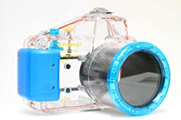 Polaroid Dive Rated Waterproof Underwater Housing Case For Sony Alpha NEX-5 Digital Camera WITH A 18-55mm Lens