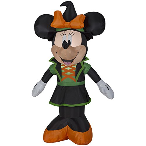 Disney Mickey & Friends 3.5-ft x 2.39-ft Lighted Minnie Mouse Halloween Inflatable (Mickey Minnie Halloween)