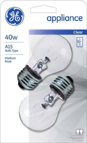 GE Appliance Light Bulb 40w A15 - 2-Count (Pack of 3)