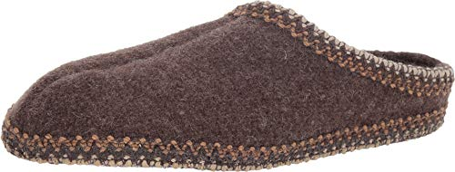 HAFLINGER Unisex AS Classic Slipper Brown 41 M EU Medium (Mens Boiled Slippers)