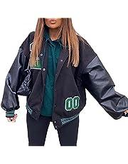 SMIMGO Vrouwen Varsity Jas Mens Baseball Jassen College Jas Y2k Mode Casual Racer Jas Kleding E Meisje Indie Kleding Esthetisch