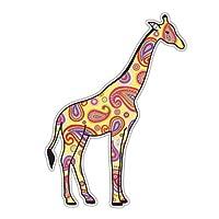 Giraffe Sticker Safari Yellow Paisley Decal by Megan J Designs - Laptop Sticker Tumbler Decal Vinyl Sticker