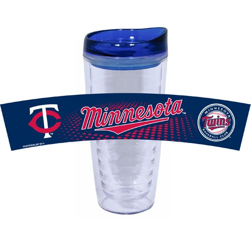 MLB Minnesota Twins Tritan Tumbler with PVC and Lid, 16-Ounce, Team Color