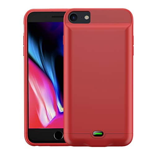3200 mAh Battery Case Compatible with iPhone 6/6s/7/8 (4.7 in) by Gorilla Gadgets, Portable Charger Case Rechargeable Extended Battery Pack Protective Backup Charging Case Cover (iPhone 6/6s/7/8, RED)