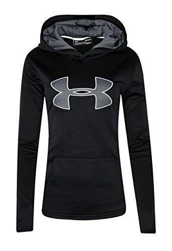 Under Armour Womens UA Storm Big Logo Hoodie Athletic Shirt (X-Large, Black) (Big Logo Hoodie)