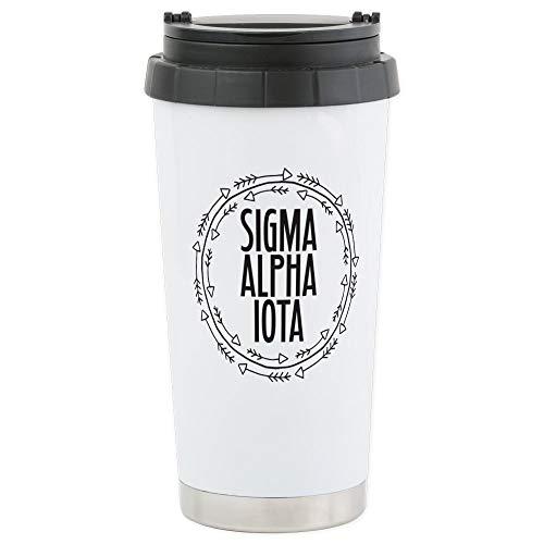 CafePress Sigma Alpha Iota Stainless Steel Travel Mug, Insulated 16 oz. Coffee Tumbler