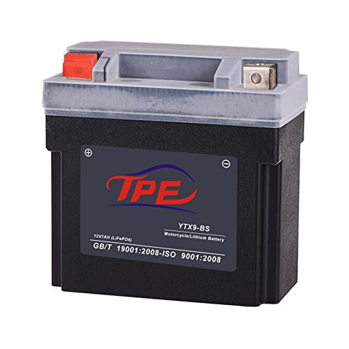 cle Battery with Built-in Battery Management System Alternative to Lead-aid Battery Model YTX7A-BS,YTX9-BS(YTX9L-BS) for Motorcycle Scooter Harvester etc ()
